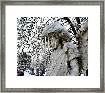 Dripping Veil Of Ice Framed Print by Gothicrow Images