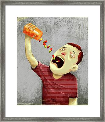 Drug Abuse Framed Print by Fanatic Studio / Science Photo Library