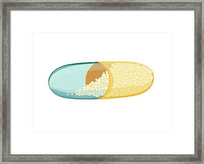 Drug Capsule Framed Print by Paul Brown