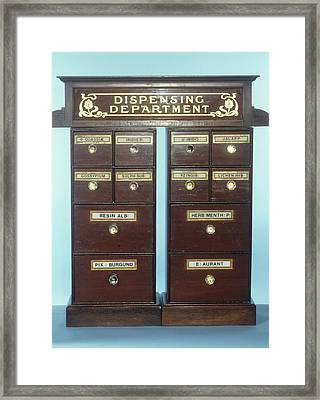 Drug Dispensing Run Framed Print by Science Photo Library