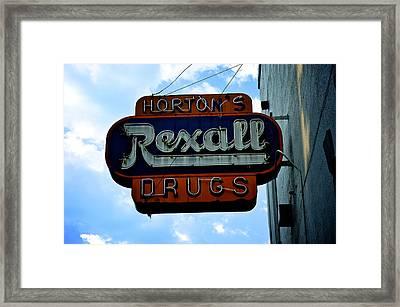 Drug Store Framed Print