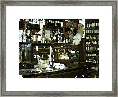 Framed Print featuring the photograph Drug Store by Roseann Errigo