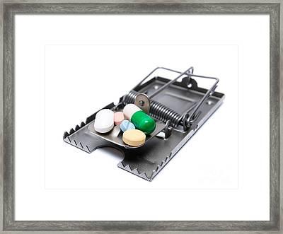 Drug Treatment Risk Framed Print
