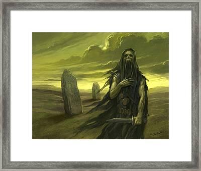 Druid Ghost Framed Print