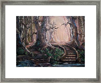 Framed Print featuring the painting Druid Walk by Megan Walsh