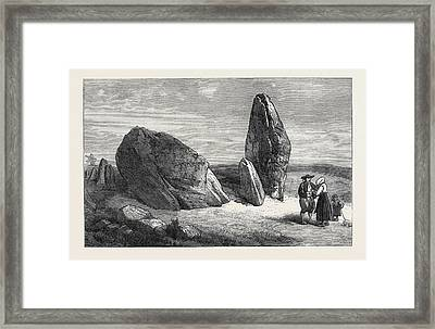 Druidic Remains Of Brittany Stones Of St Framed Print