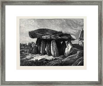 Druidic Remains Of Brittany The Great Dolmen Of Corconne Framed Print