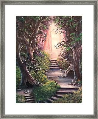 Framed Print featuring the painting Druid's Walk by Megan Walsh