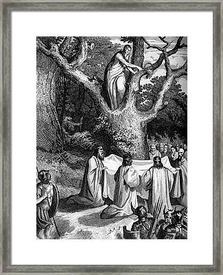 Druids Worshipping Framed Print by Collection Abecasis