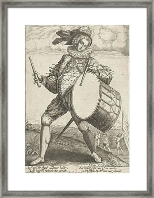 Drum Beater, Raphael De Mey, Hendrick Goltzius Framed Print by Raphael De Mey And Hendrick Goltzius And Johann Bussemacher