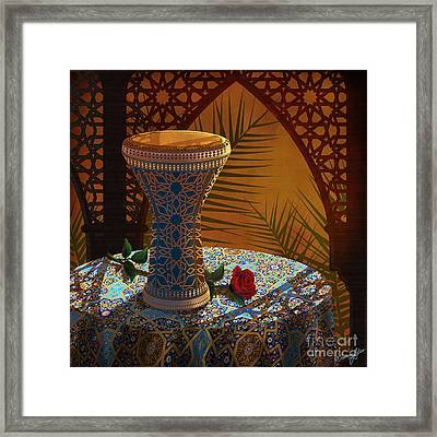 Drum Dance Live Framed Print by Tammy Yee