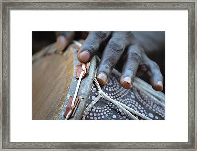 Drum Maker's Hands II Framed Print by Ronda Broatch