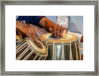 Drum Player's Hands, Varanasi, India Framed Print by Ali Kabas
