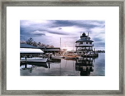 Drum Point In Infrared Watercolor Framed Print