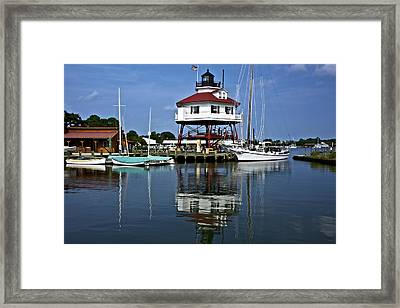Drum Point Light House Framed Print