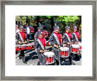 Drum Section Framed Print by Susan Savad