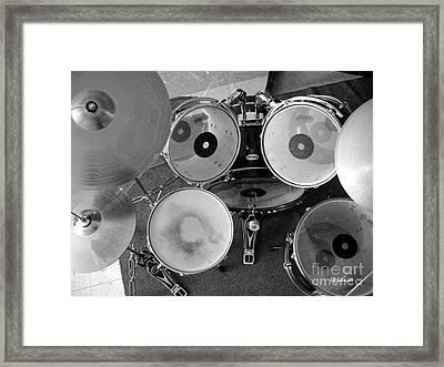 Drum Set 01 Framed Print