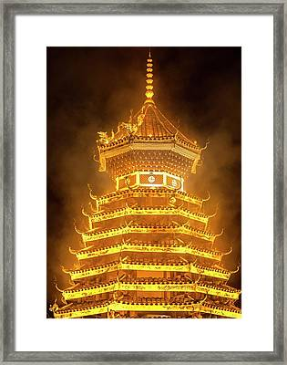 Drum Tower In Guizhou, China Framed Print by Tino Soriano