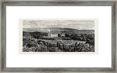 Drumlanrig Castle From The West, Nithsdale Framed Print by Scottish School