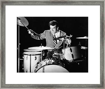 Drummer Gene Krupa Framed Print by Underwood Archives