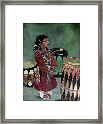 Drummer Girl Framed Print