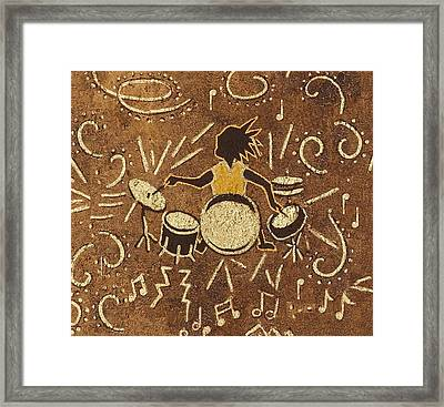 Drummer Framed Print by Katherine Young-Beck