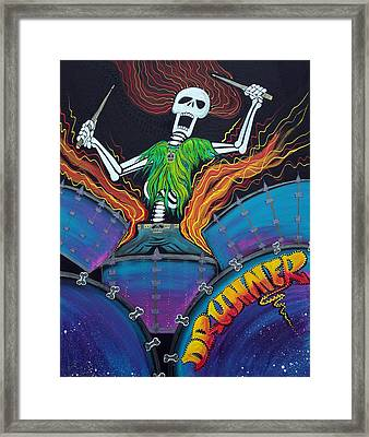 Drummer Of The Dead Framed Print by Laura Barbosa