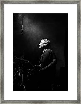 Drummer Portrait Of A Muscian Framed Print by Bob Orsillo