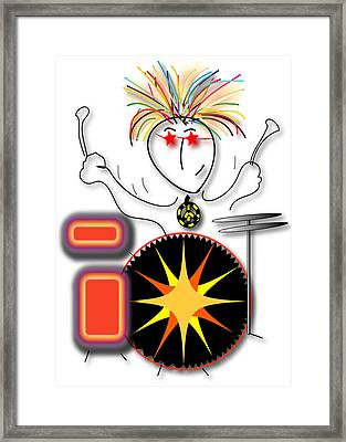 Framed Print featuring the drawing Drummer Spike by Marvin Blaine