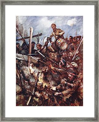 Drummer W. Ritchie Standing Framed Print
