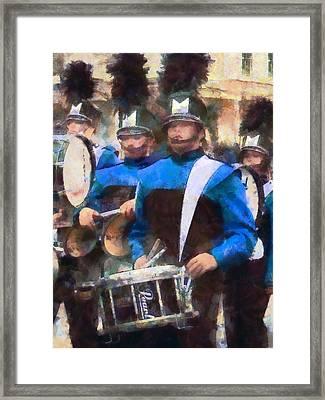 Drummers Framed Print by Susan Savad