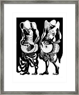 Drummers Framed Print by Vadim Vaskovsky