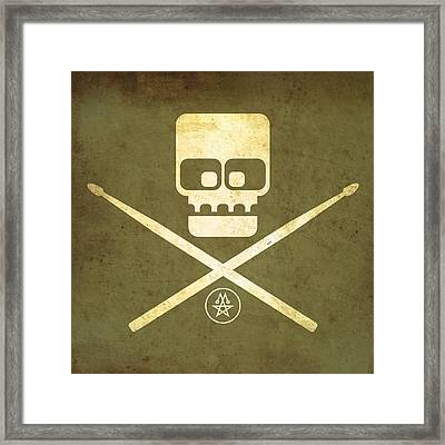 Drumskull Framed Print by Milton Thompson