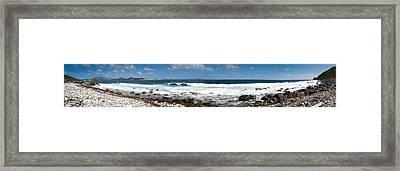 Drunk Bay Panorama St. John Usvi Framed Print