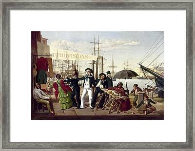 Drunken Sailors, 1857 Framed Print
