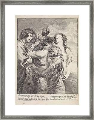 Drunken Silenus Supported By Bacchantes, Franciscus Van Der Framed Print by Franciscus Van Der Steen And Gerard Van Keulen