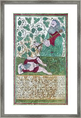 Drunkenness Of Noah Framed Print