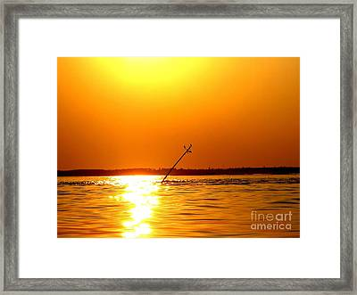 Drunkers Ledge At High Tide Framed Print by Donnie Freeman
