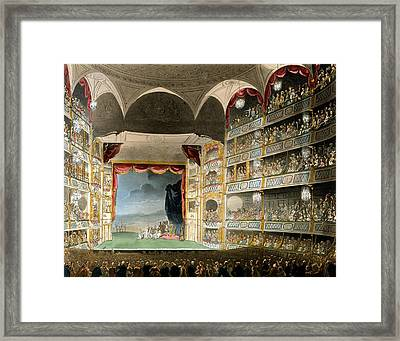 Drury Lane Theater Framed Print by Pugin and Rowlandson