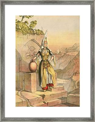 Druse Girl. Druze Or Durzi, A Middle Eastern Ghulat Framed Print by Artokoloro