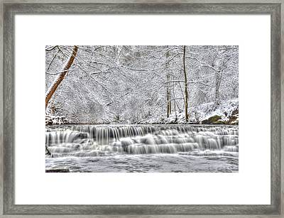 Dry Creek Winter Framed Print