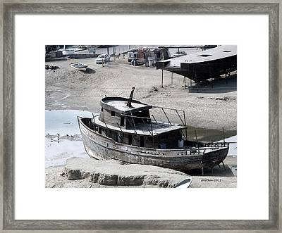Dry Dock Framed Print by Dick Botkin