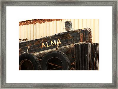 Dry Docked Alma Framed Print by Art Block Collections