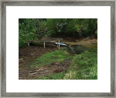 Dry Docked Framed Print by Peter Piatt