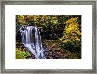 Dry Falls Along The Cullasaja River Framed Print
