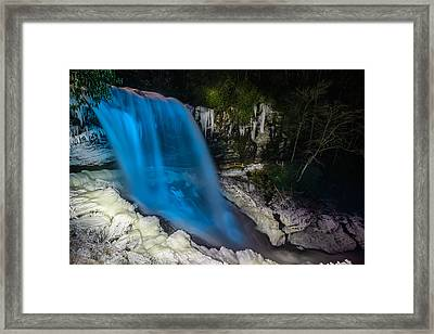 Dry Falls At Night Framed Print