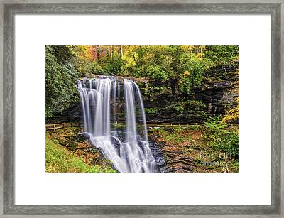Dry Falls In Fall Framed Print