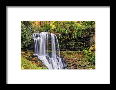 Cullasaja Falls Framed Prints