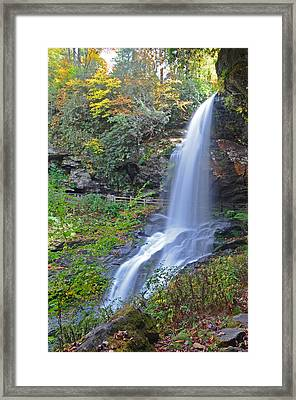 Dry Falls In Highlands Nc Framed Print by Mary Anne Baker
