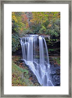 Dry Falls In Highlands North Carolina Framed Print by Mary Anne Baker